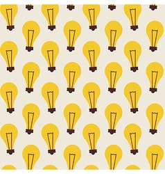 Flat Seamless Pattern with Light Bulbs vector image vector image