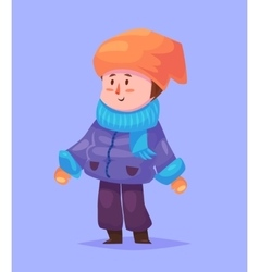Funny of boy cartoon character vector