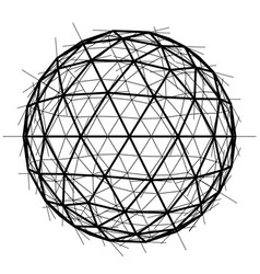 Global wireframe sphere eps10 vector
