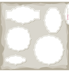 Home made frames vector image vector image