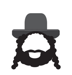 Isolated rabbi icon vector