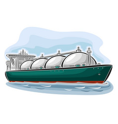lng tanker vector image vector image