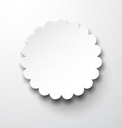 Paper white round flower note vector