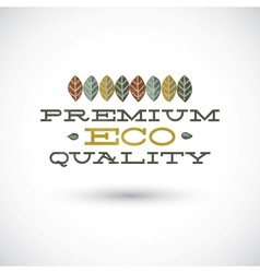 Premium Eco Quality Sign vector image vector image