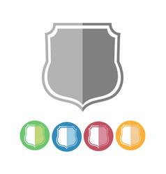 Royal guard shield icons vector