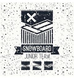 Snowboard junior team emblem vector image