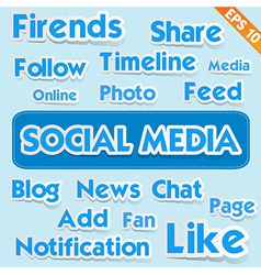 Social media wording - - EPS10 vector image vector image