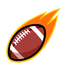 Sport ball fire american football vector