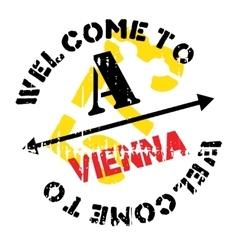 Vienna stamp rubber grunge vector
