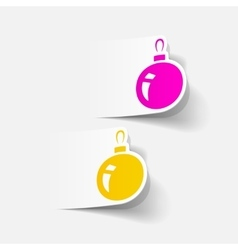Realistic design element christmas ball vector