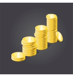 Coins stack vector