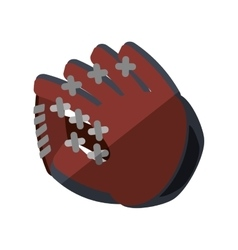 Baseball catcher glove isolated icon vector