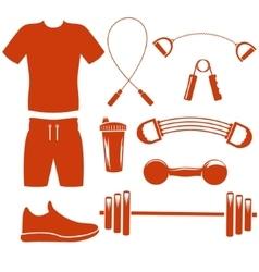 Sport equipment silhouette template vector