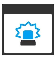 Alert calendar page toolbar icon vector
