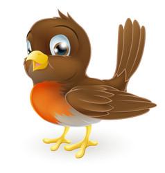 cute cartoon robin vector image