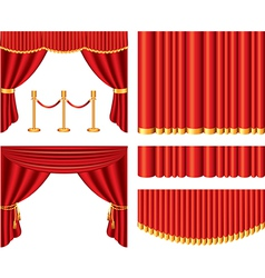 Curtains set vector