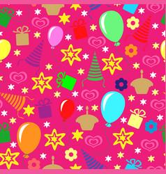 Happy birthday greeting multicolor pattern vector