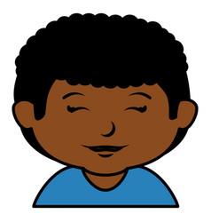 black little boy character vector image