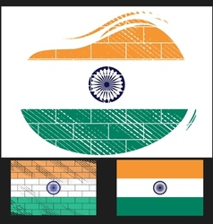 Scratched flag of india vector