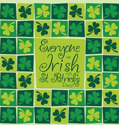 Mosaic funky st patricks day card in format vector
