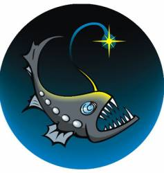 Deep sea angler vector