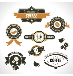 Set of vintage retro coffee badges and labels for vector