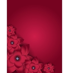 Abstract Blossom Floral Greeting Card Background vector image vector image
