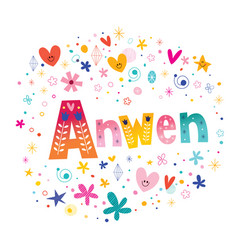 Anwen girls name vector