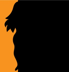 Background silhouette of a girl vector