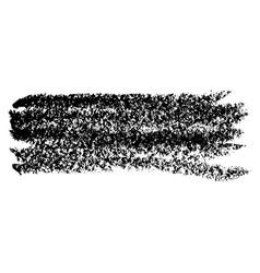 Chalk brush grunge element with chalk texture vector