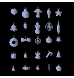 christmas decoration eps10 vector image