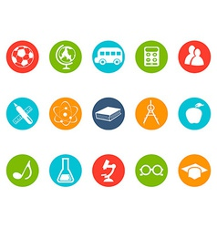 education button icons set vector image vector image