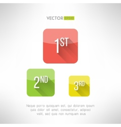 First second and third place icons made in modern vector