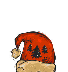 hand drawn abstract christmas greeting card vector image vector image