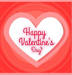 Happy valentines day pink heart red blackground ve vector