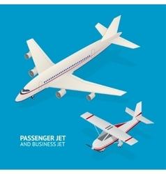 Jet set isometric view vector