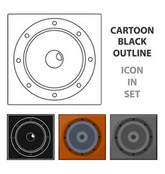 load speaker icon in cartoon style isolated on vector image