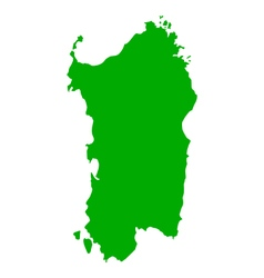 Map of Sardinia vector image vector image
