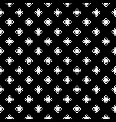 monochrome floral geometric seamless pattern vector image