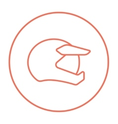 Motorcycle helmet line icon vector image vector image
