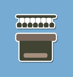Paper sticker on stylish background pub bar vector