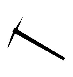 Pickaxe black color icon vector