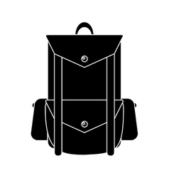 pictogram backpack travel hiking equipment camping vector image vector image