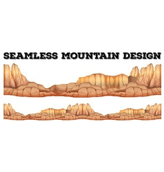 Seamless mountain in canyon vector image vector image