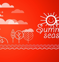 Summer vacation vacation design template open sum vector