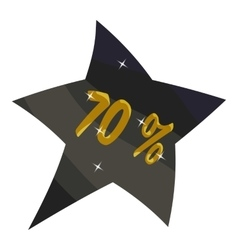 Tag star seventy percent discount icon vector