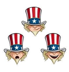 Uncle Sam Head vector image