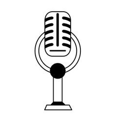 Vintage microphone icon image vector