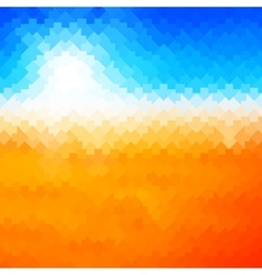 Shiny sun background made of arrow pattern vector