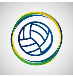 Volleyball sport badge icon vector